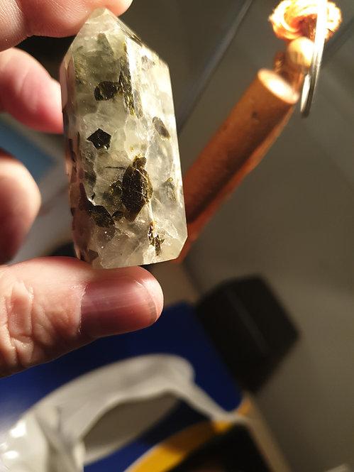 Prehenite Polished Point 65 mm