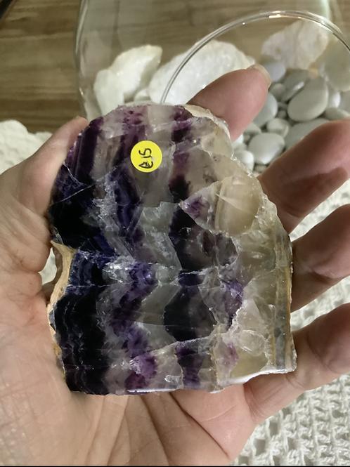 Purple Fluorite Banded Slice