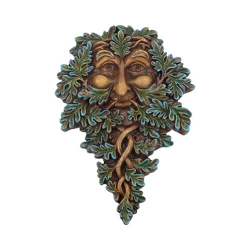Tree Spirit Wall Plaque Oak Guardian 19.5cm Hand Painted