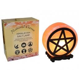 Pentagram Design Salt Lamp