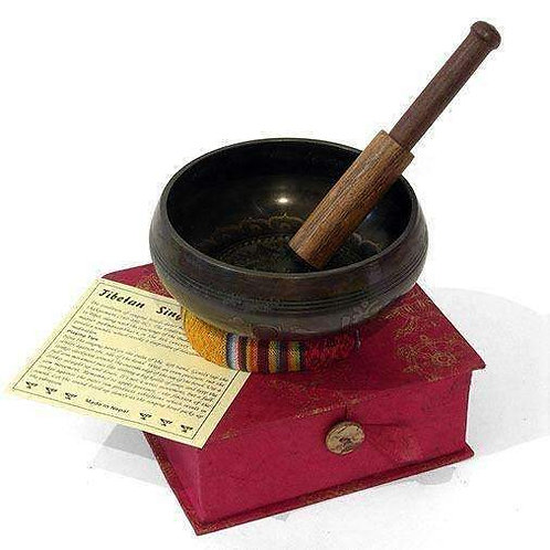 Buddha Mandala Singing Bowl Set : Fairtrade: Luxury Inlaid Pattern: