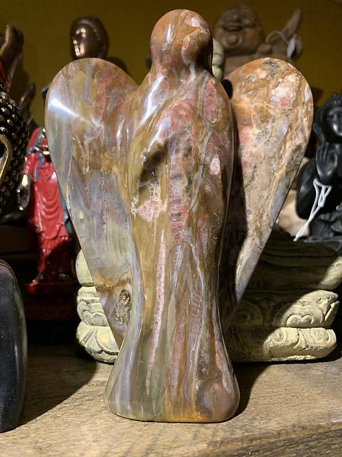 Petrified Wood carved Angel