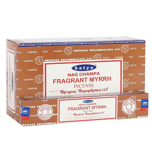 Satya Fragrant Myrhh Incense Sticks