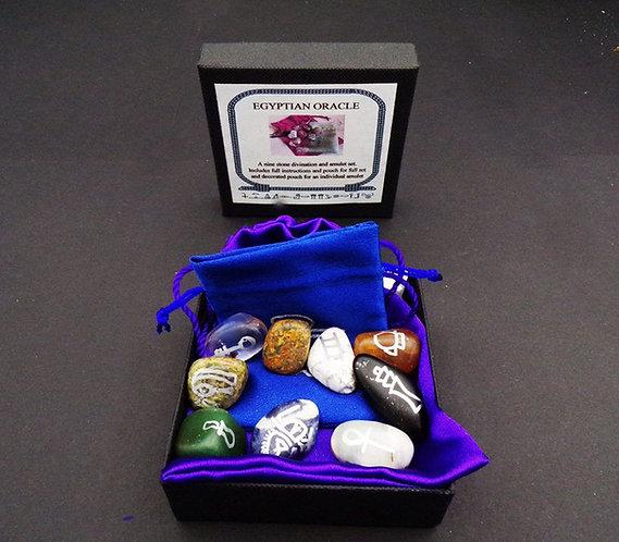 Egyptian Amulet Oracle Gemstone Set