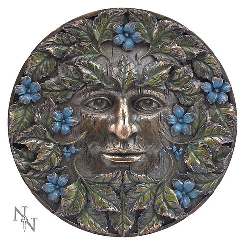 Bronzed Beltane Tree Spirit Wall Plaque 14.5cm