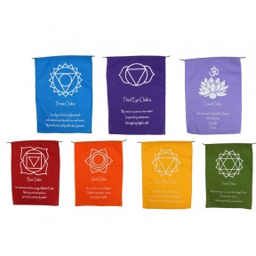 Chakra Flags: Long Wall Hanging