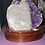 Thumbnail: Amethyst Druze with White Calcite on Wooden Stand