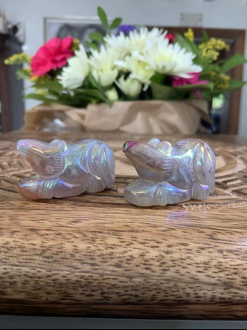 Angel Aura Quartz Crystal Carved Rat