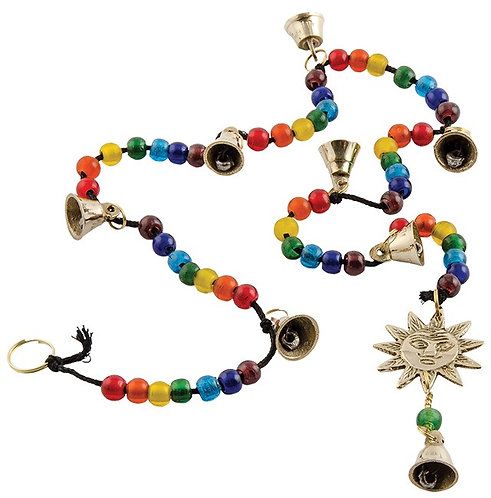 Sun String with Chakra Beads and Bells