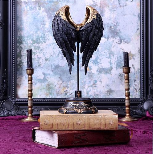 Dark Angel Gothic Fallen Fae Wing Sculpture Figurine