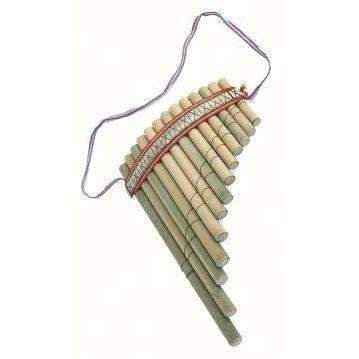 Large Curved Peruvian Easy to Use Pan Pipes - Fair Trade Decorative