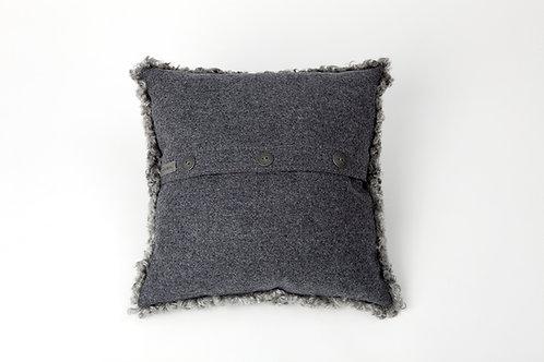 Fårskinnskudde grå 50x50