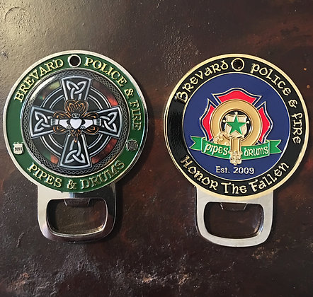 "*NEW* BPFPD 3"" Tall Bottle Opener Challenge Coin 10 Year Anniversary"