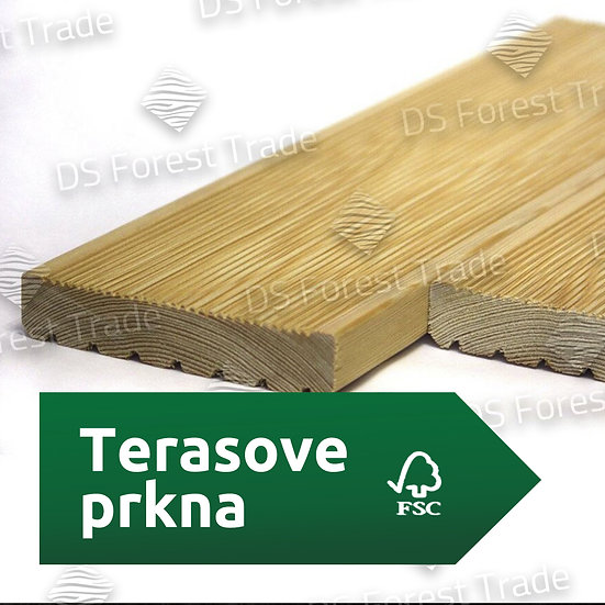 Террасная доска из сибирской лиственницы, сорт AB, м2