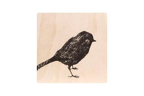 MIIKO DESIGN - Untersetzer aus Birkenholz. Vogel