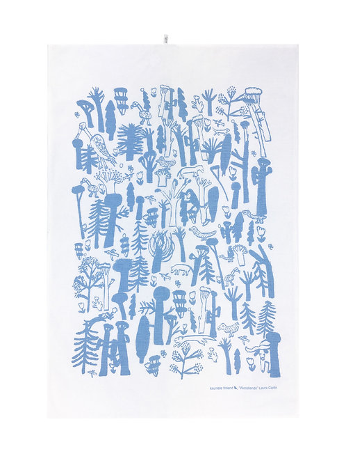 KAUNISTE - Woodlands Geschirrtuch, blau