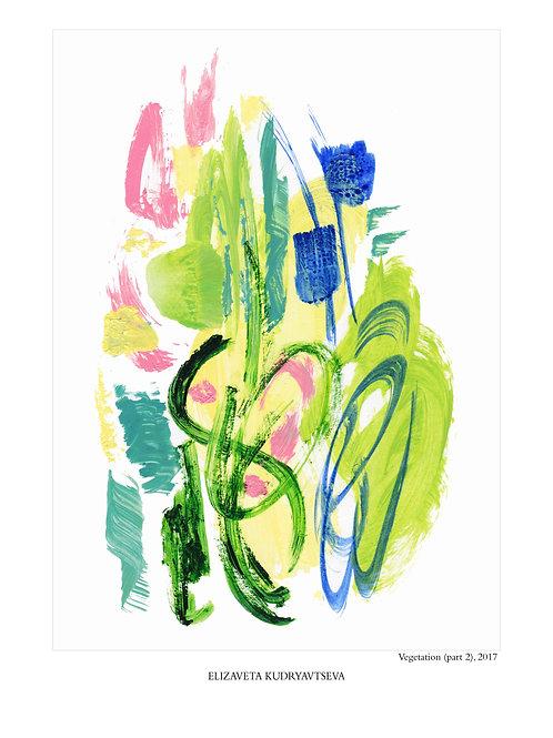 ELIZAVETA KUDRYAVTSEVA - Poster. Vegetation. Part 2, 30 x 40 cm