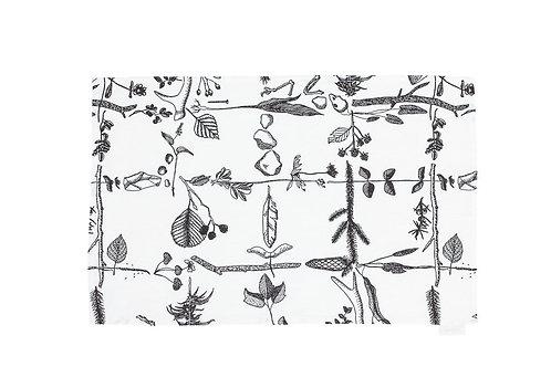 SAANA JA OLLI - Myrskyn Jälkeen Tischset, weiss, schwarz, 45 x 45