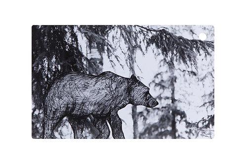MIIKO DESIGN - Schneidebrett aus Birkenholz. Bär