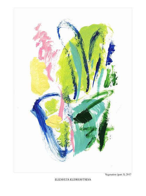 ELIZAVETA KUDRYAVTSEVA - Poster. Vegetation. Part 3, 50 x 70 cm