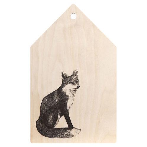 MIIKO DESIGN - Schneidebrett aus Birkenholz. Fuchs