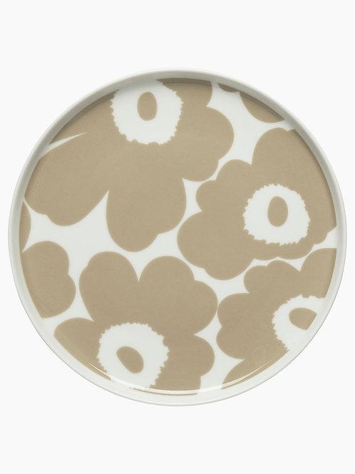 MARIMEKKO - Oiva/ Unikko Teller, 20 cm, weiss, beige