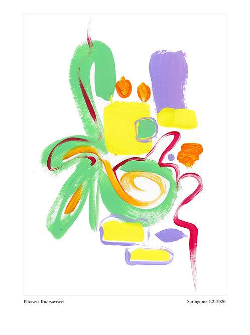 ELIZAVETA KUDRYAVTSEVA - Poster. Springtime, 1.2, 2020. 30 x 40 cm