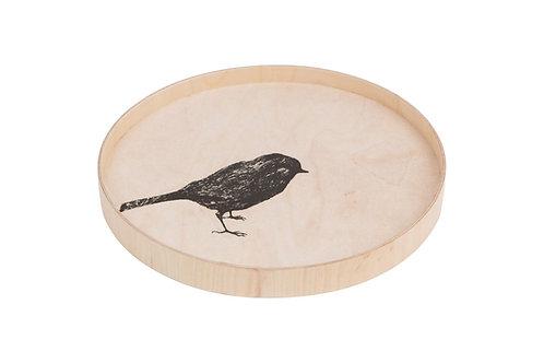 MIIKO DESIGN - Serviertablett aus Birkenholz. Vogel. 31 cm