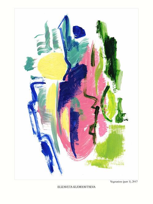 ELIZAVETA KUDRYAVTSEVA - Poster. Vegetation. Part 1, 50 x 70 cm