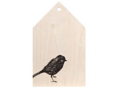 MIIKO DESIGN - Schneidebrett aus Birkenholz.Vogel