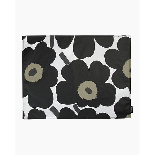 MARIMEKKO - Pieni Unikko Tischset 31x42 cm, weiss, schwarz, oliv