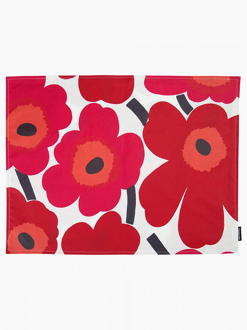 MARIMEKKO - Pieni Unikko Tischset 31x42 cm, weiss, rot, pink