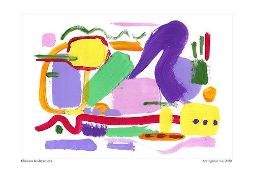 ELIZAVETA KUDRYAVTSEVA - Poster. Springtime, 1.4, 2020. 30 x 40 cm