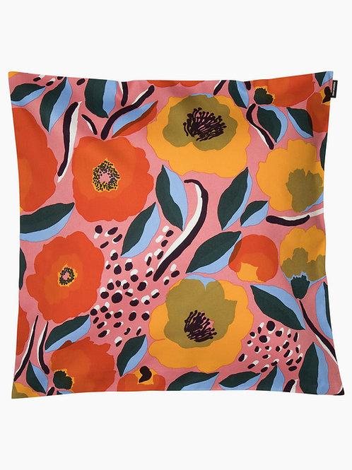 MARIMEKKO - Rosarium Kissenbezug 50 x 50, pink, blau, rot