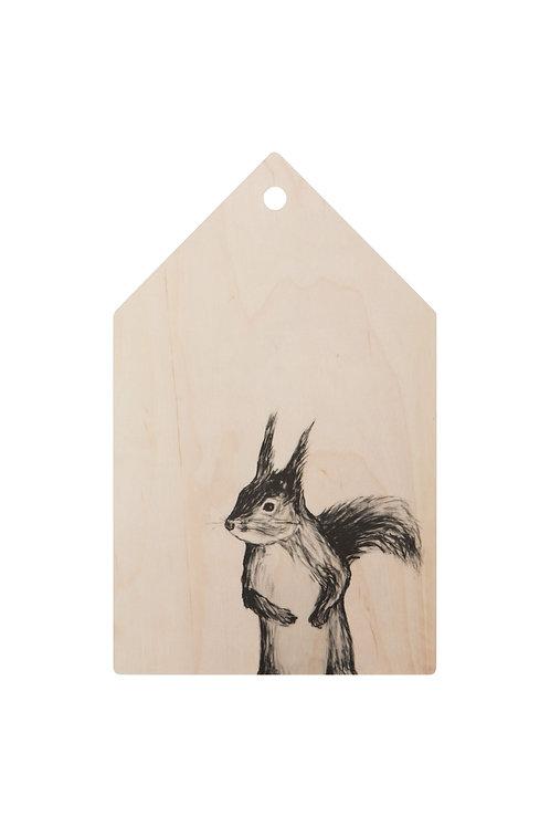 MIIKO DESIGN - Schneidebrett aus Birkenholz. Eichhörnchen