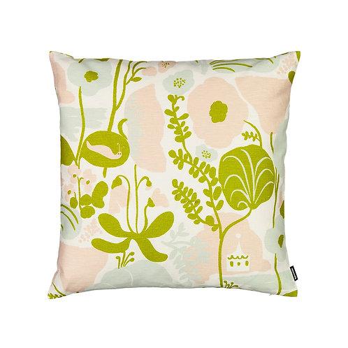 KAUNISTE - Kesäpiilo Kissenbezug, zitrusgrün, rosa und hellgrün