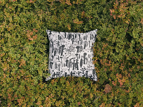 KAUNISTE - Woodlands Kissenbezug, schwarz