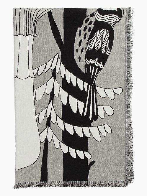 Marimekko - Veljekset Decke 130 x 180 cm, schwarz / weiss
