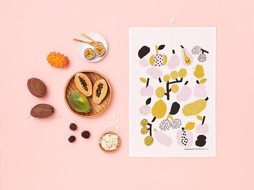 KAUNISTE -  Tutti Frutti Geschirrtuch, olivgrün