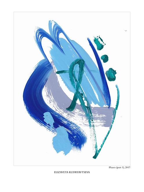ELIZAVETA KUDRYAVTSEVA - Poster. Phases. Part 1, 50 x 70 cm