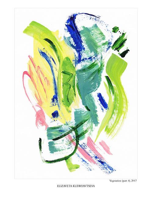 ELIZAVETA KUDRYAVTSEVA - Poster. Vegetation. Part 4, 30 x 40 cm