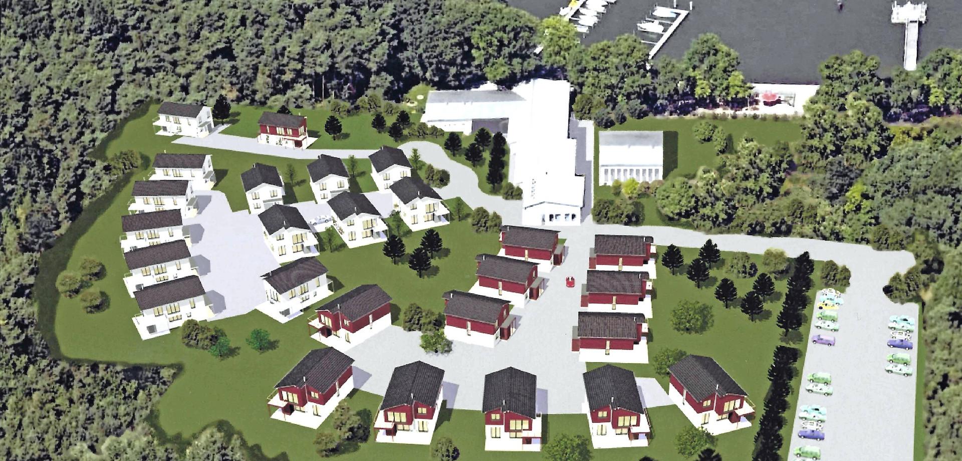 Luftbild Ferienhaus-Anlage
