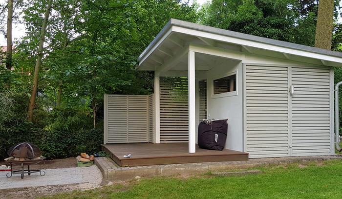 Outdoor-Sauna Eingangsseite