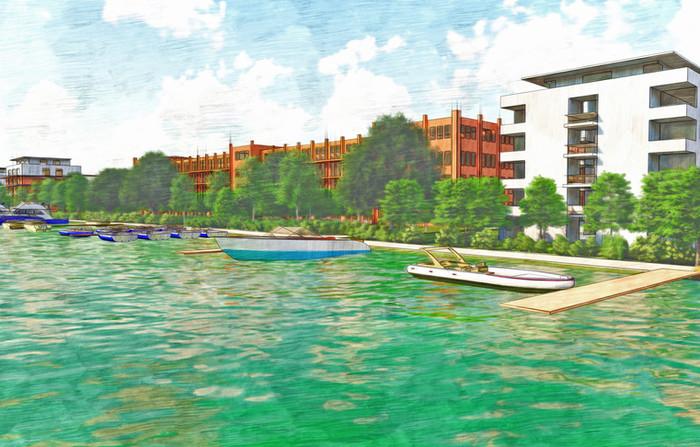 Farbskizze Wasserstadt