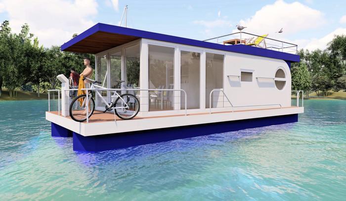 Visualisierung Hausboot