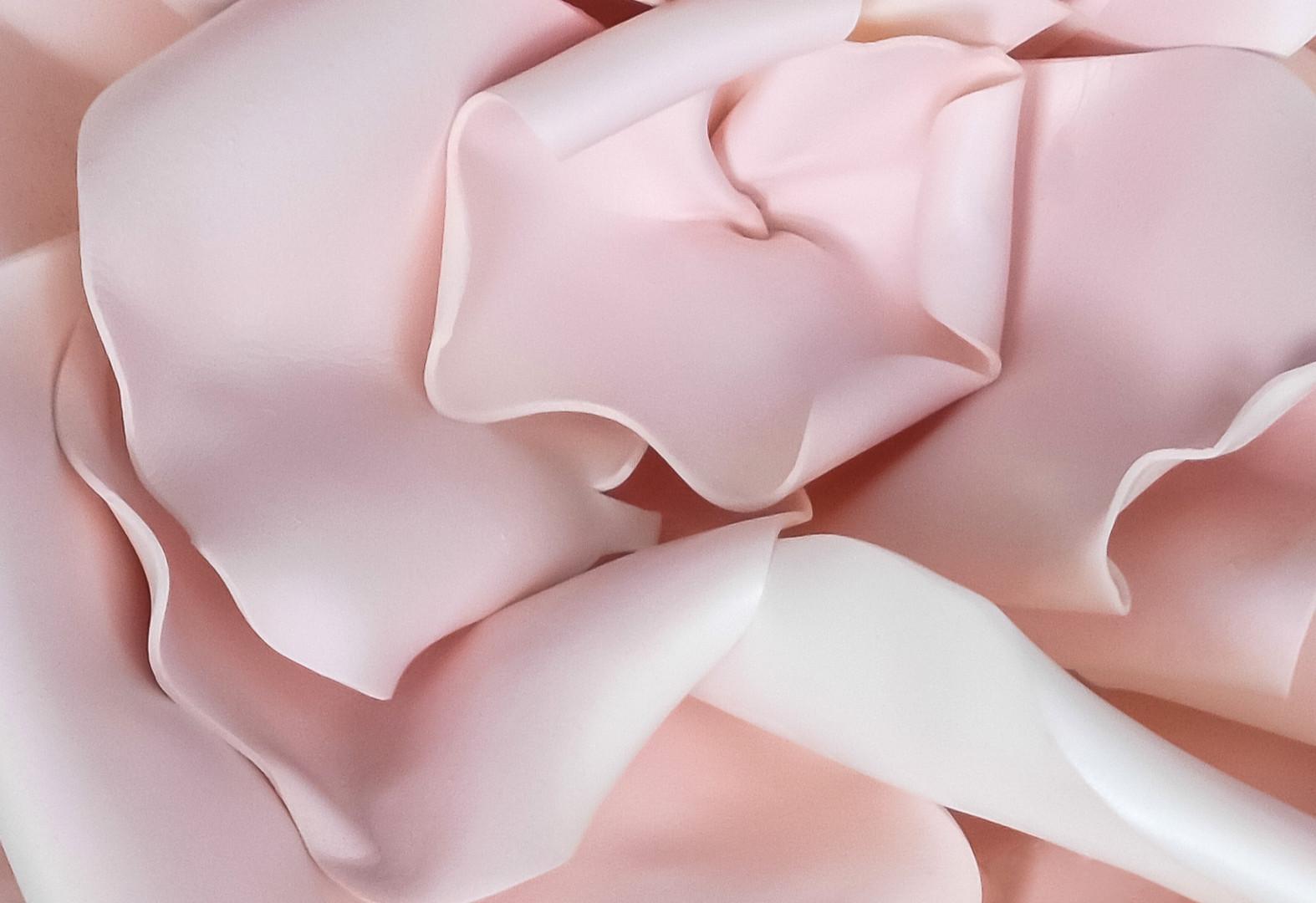 3Dピンクの花