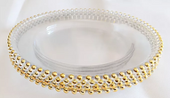 Gold beaded charger plates