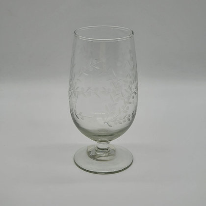 Vintage Floral Wine Glass