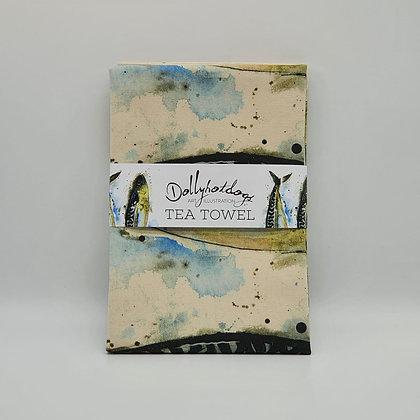 Mackerel Tea Towel