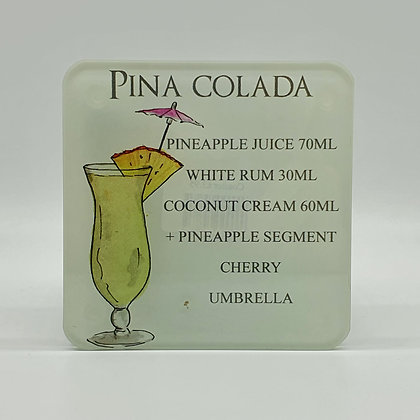 """Pina Colada"" Ingredient Glass Coaster"